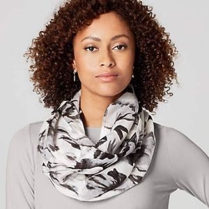 J. Jill Gorgeous Watercolor Floral Infinity Scarf